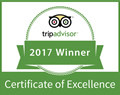 Trip Advisor 2017 Winner Certificate of Excellence