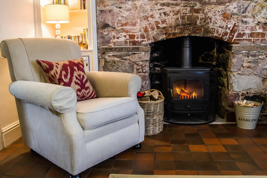 Our luxury holiday cottage has a beautiful fire for those winter days in Cornwall