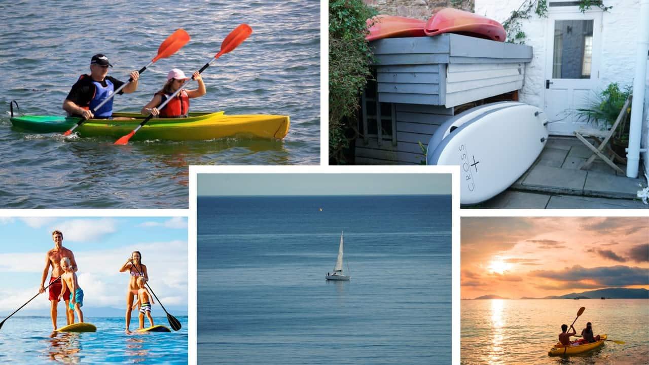 Kayaks, Paddle Boards and Sailing Boats